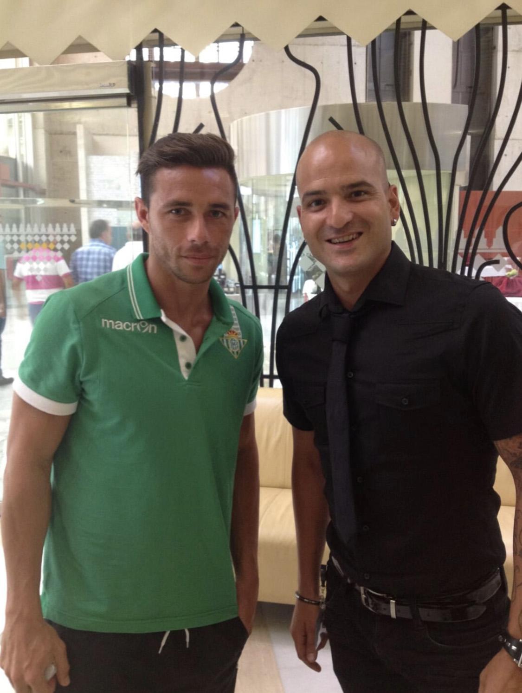 Jesús Gutiérrez Peluqueros con Rubén Castro (Betis- Las Palmas)
